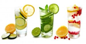 3 glasses detox water
